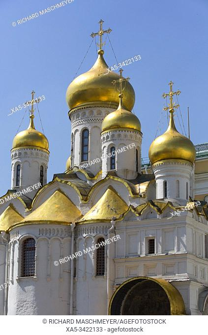 Annunciation Cathedral, Kremlin, UNESCO World Heritage Site, Moscow, Russia