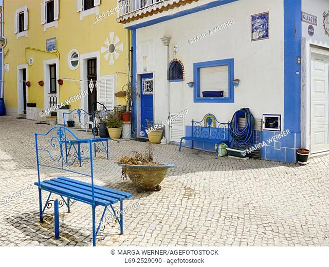 Old village center of holiday resort and fishing village Ericeira at Atlantic coast, Region Centro, Cencelho Mafra, Portugal, Europe