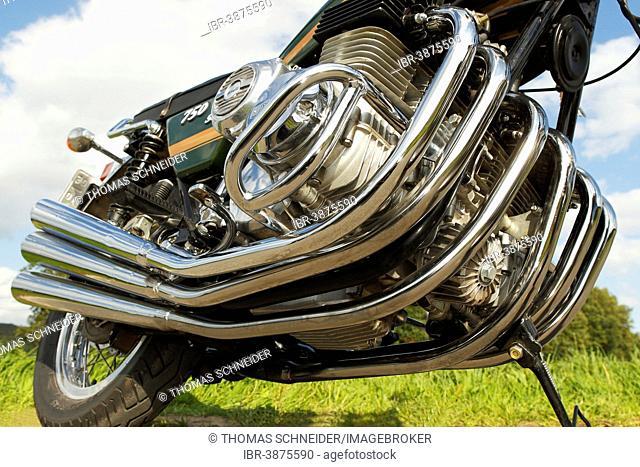 Motorcycle, Benelli 750 Sei, motor