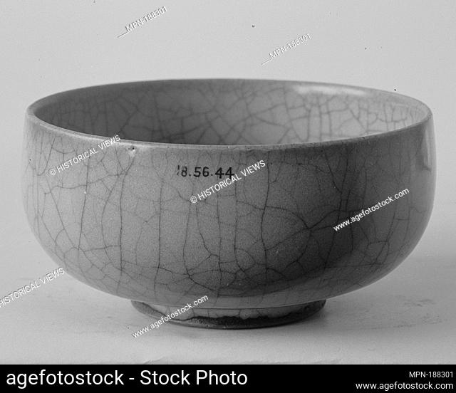 Bowl. Period: Song (960-1279) or Jin (1115-1234) dynasty; Date: 12th-13th century; Culture: China; Medium: Stoneware with blue-gray glaze (Jun ware);...