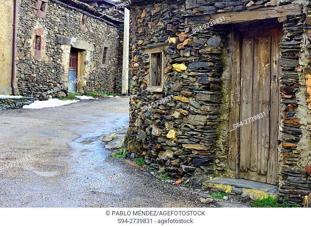 """Street in El Muyo """"""""Black Town"""""""", Segovia, Spain"""