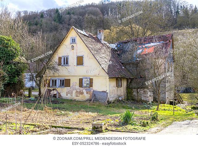 a rural farm house in Hohenlohe, a area in Southern Germany at early spring time
