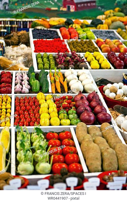 Produce at a Farmers Market