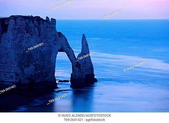 Arch in Étretat. Normandy. France
