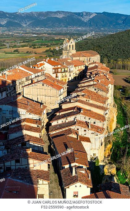 Frías view from the castle (12th-15th century), Frias village, Las Merindades, Burgos, Castilla y Leon, Spain, Europe