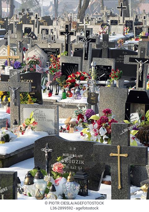 Poland. Knyszyn - cemetery