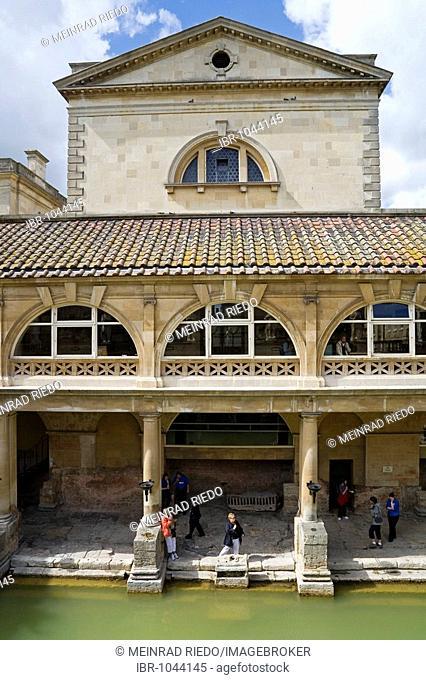 Roman bath, Bath, Somerset, England, Great Britan, Europe