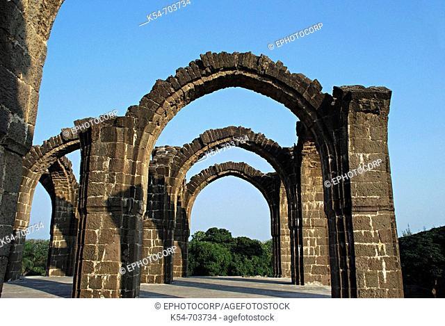 Bara Kaman is the unfinished mausoleum of Ali Adil Shah. India