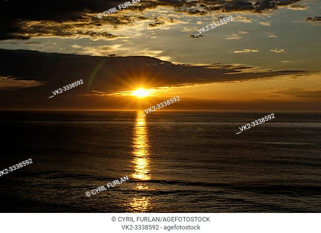 sea turned to gold at sunrise, Virginia Beach Virginia