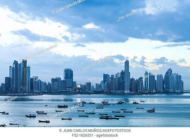 Skyline, Panama City, Panama, Central America, America