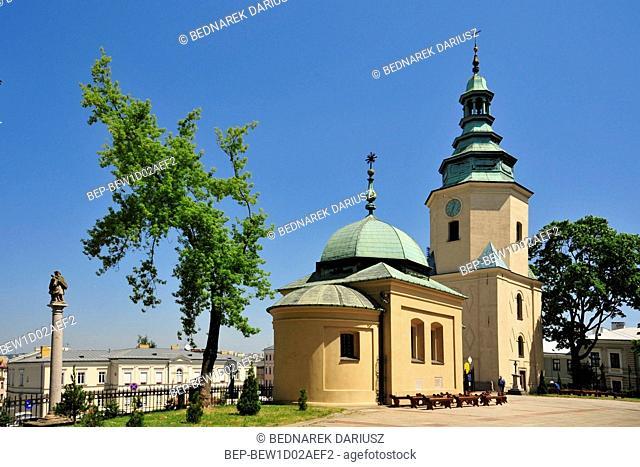 Chapel and belfry next to the cathedral. Kielce, swietokrzyskie Voivodeship, Poland