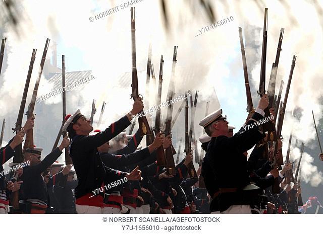 Europe, France, Var, 83, St  Tropez, the bravado, marine gunfire shot