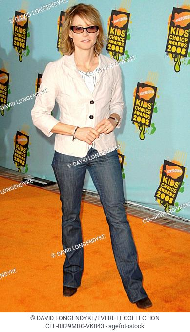 Jodie Foster at arrivals for Nickelodeon's 21st Annual Kids' Choice Awards - ARRIVALS, UCLA's Pauley Pavilion, Los Angeles, CA, March 29, 2008