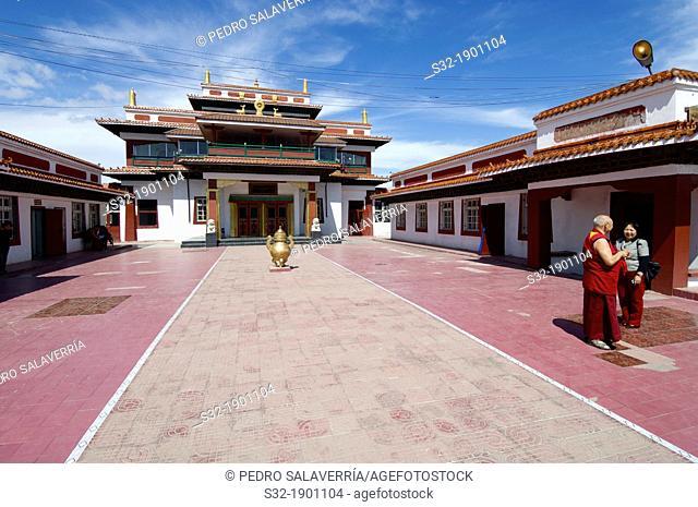 Bakula Rinpoche Khiid Buddhist monastery  Founded in 1999, is dedicated to training new Buddhist monks  Ulan Bator, Mongolia