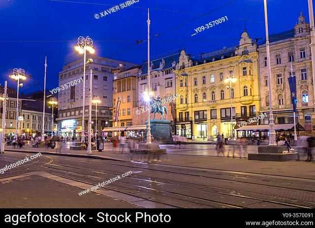 Josip JelaÄ. ić Square, Zagreb, Croatia