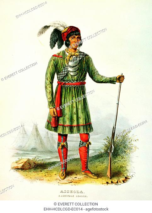 Asseola, Seminole leader of Florida. lithograph by George Catlin ca. 1838