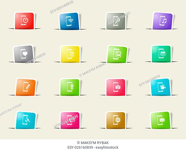 Smartphone vector icons for web sites and user interface
