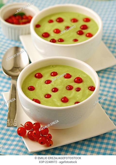 Gazpacho with melon and avocado