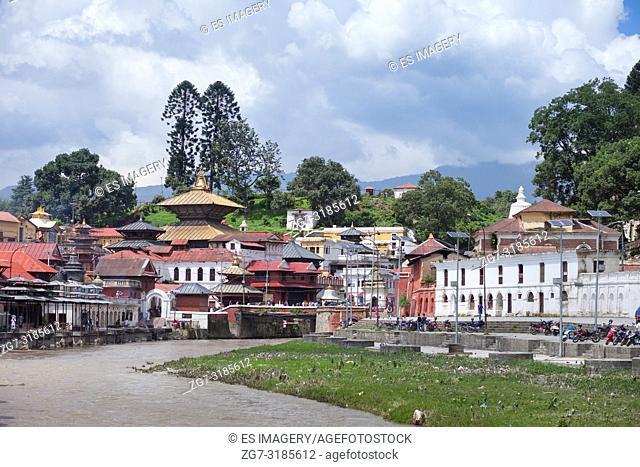 Pashupatinath, a very sacred Hindu temple complex in Kathmandu, Nepal