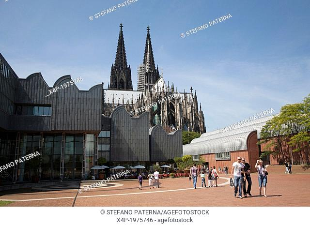 Museum Ludwig and Cathedral, Heinrich-Böll-Platz, Cologne, Germany