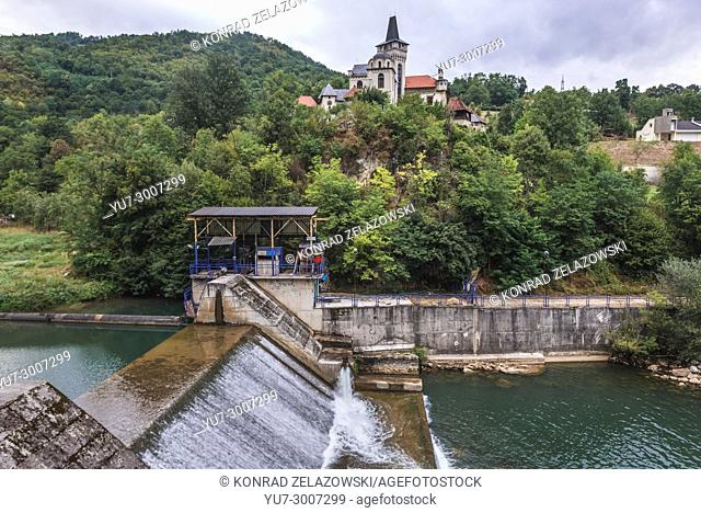 Fairy house of painter Ljubivoje Jovanovic over dam on Rvaz River near Arilje city in Zlatibor district of southwestern Serbia