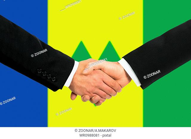 The Saint Vincent and the Grenadines flag