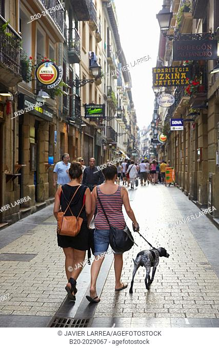 Old Town. Donostia. San Sebastian. Gipuzkoa. Basque Country. Spain