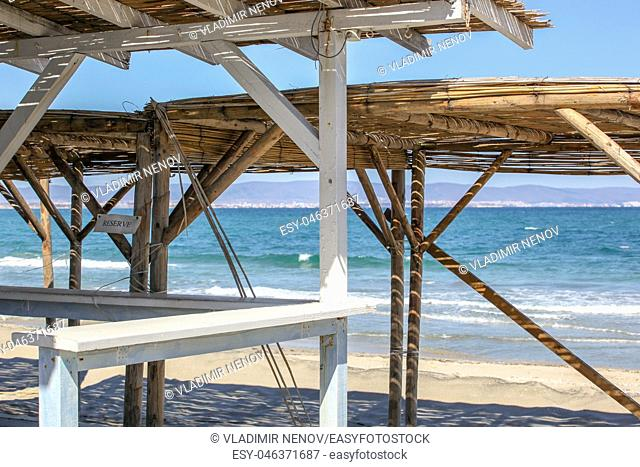Beautiful View To The Sea Coast In Pomorie, Bulgaria