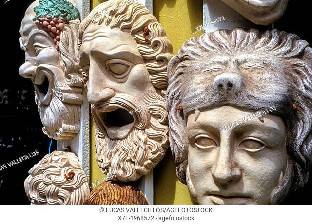 Tzanakaki popi & Marilena shop, sell exact copies of museum pieces. In Adrianou, 152, Plaka, Athens, Greece, Europe