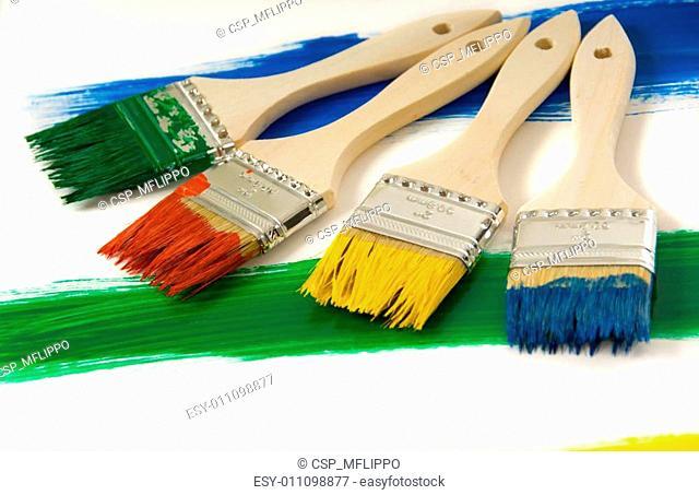 Colrful paintbrushes