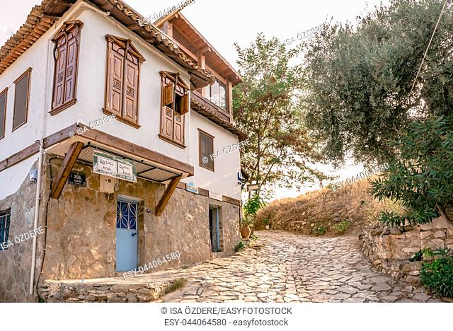 View of traditional Houses at Sirince Village, a popular destination in Selcuk, Izmir, Turkey. 21 August 2017
