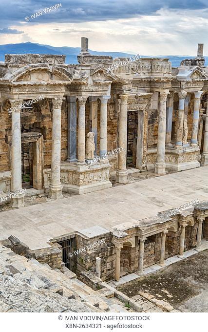 Ruins of ancient Hierapolis, Pamukkale, Denizli Province, Turkey