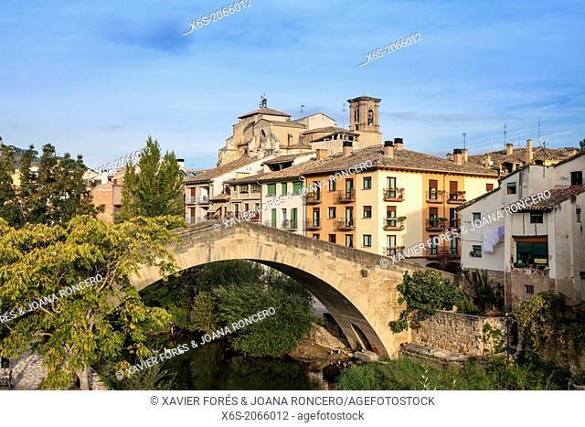 St. James way; Bridge of La Carcel -prison-, Estella, Navarra, Spain
