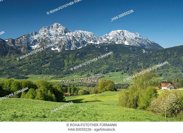 Bayern, Oberbayern, Anger, Aufham, Berchtesgadener Land, Rupertiwinkel, Landschaft, landschaftlich, Landwirtschaft, agrar, Agrarwirtschaft, bäuerlich