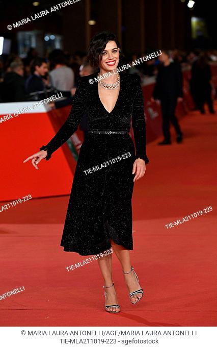 Rosa Diletta Rossi during the red carpet of film ' Il ladro di giorni ' at the 14th Rome Film Festival, Rome, ITALY-20-10-2019