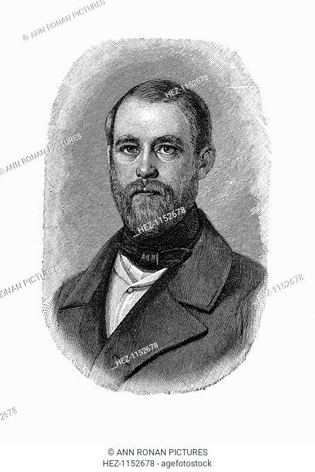 Otto von Bismarck German statesman, when Conservative Deputy and Inspector of Dykes, 1850. Otto Edward Leopold, Count von Bismarck (1815-1898) was Chancellor of...