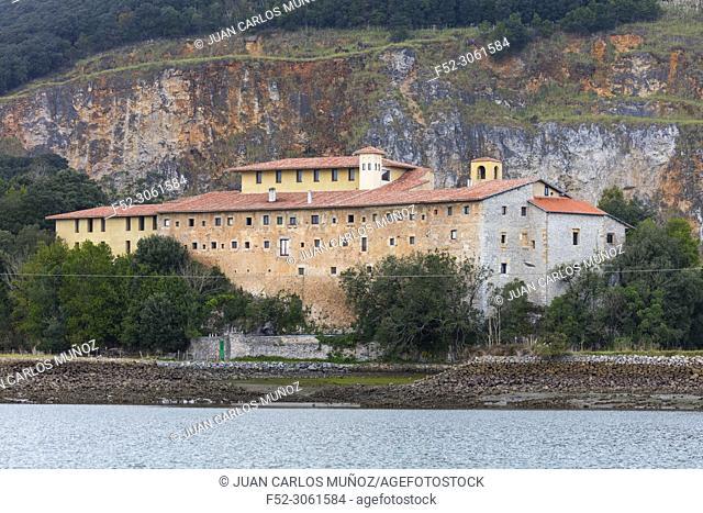 Monasterio o Convento San Sebastián de Hano, Escalante, Marismas de Santoña, Victoria y Joyel Natural Park, Cantabria, Spain, Europe