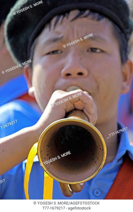 School music band, Namdapha Eco Cultural Festival, Miao, Arunachal Pradesh, India