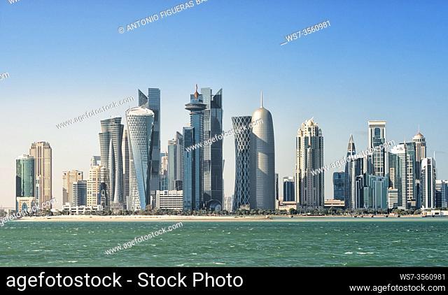 View of Doha West Bay skyline