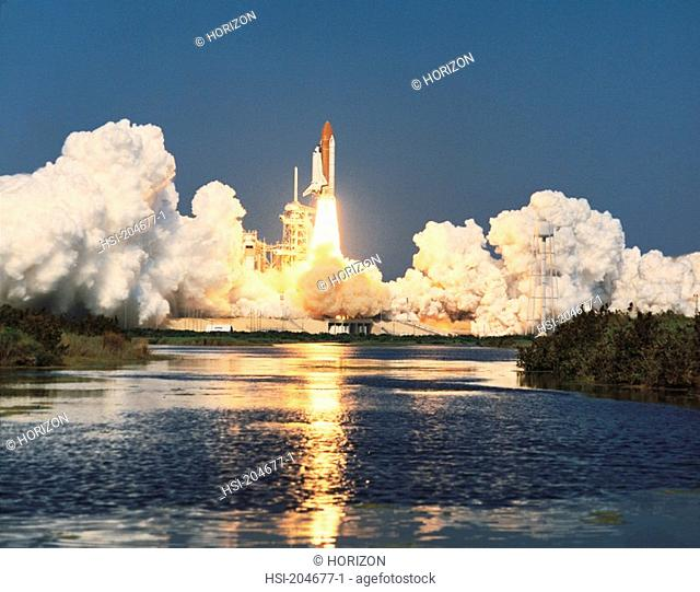 Space & astronomy, Transport, Space vehicle, NASA, U S A , Space Shuttle launch