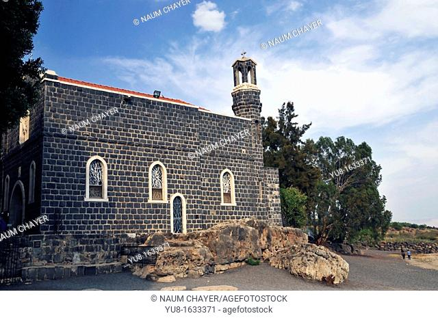 Church of the Primacy of St  Peter on the Sea of Galilee, Israel,Asia, Middle East