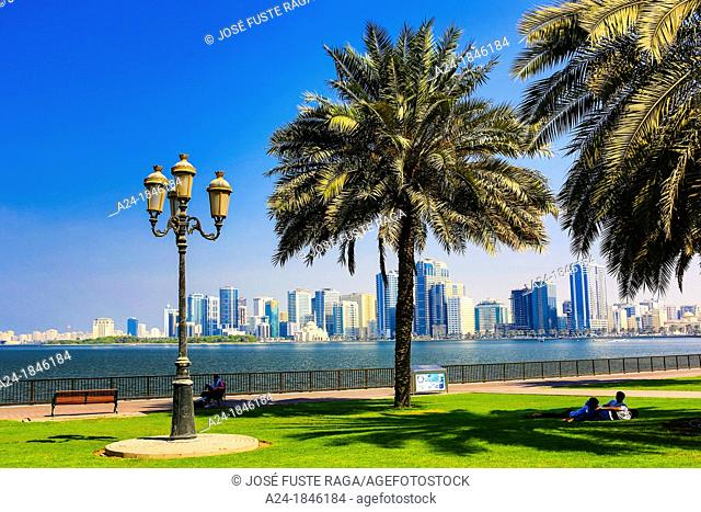 United Arab Emirates UAE , Sharjah City ,Khaued Lagoon