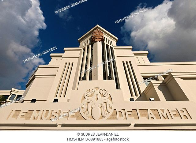France, Pyrenees Atlantiques, Pays Basque, Biarritz, Sea Museum in Art Deco style, built in 1933, on the frontispiece octopus