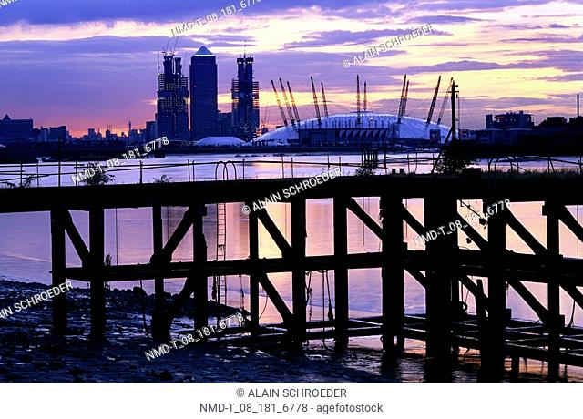 Buildings at the waterfront, Millennium Dome, London, England