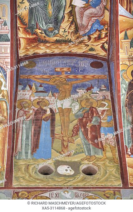 Frescoes, Miracle Image of the Saviour Church, Kremlin, Rostov Veliky, Golden Ring, Yaroslavl, Russia
