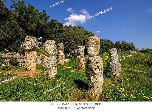Son Corró , yacimiento arqueológico, datado en la época postalayótica (s. V-II A. c), Costitx, isla de Mallorca, balearic islands, spain