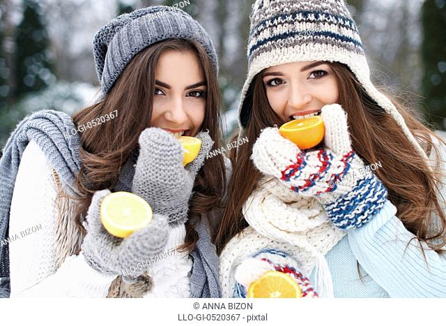 Eating natural vitamins in winter strengthens our resistance. Debica, Poland