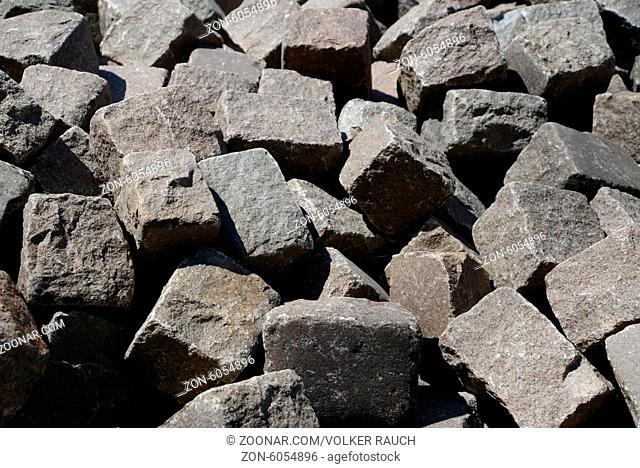 Steine, Straßenbau, stein, bauhof, lager, baumaterial, tiefbau, grau
