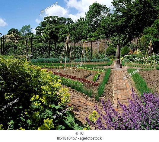 Lodge Park Walled Garden, Straffan, Co Kildare, Ireland, Potager in a walled garden