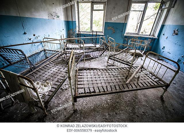 Hospital in Chernobyl-2 military complex (next to Duga-3 radar system), Chernobyl Nuclear Power Plant Zone of Alienation, Ukraine